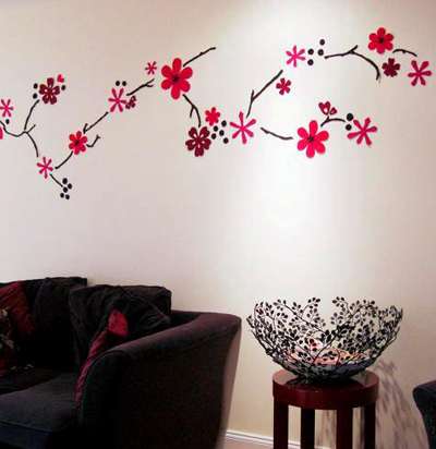 Decoraciones en pared de flores car interior design - Decoraciones de paredes ...